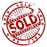 grunge atrament sprzedane pieczęć Obrazy Royalty Free