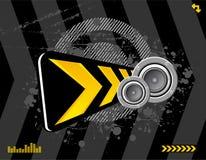 Grunge audio Imagens de Stock