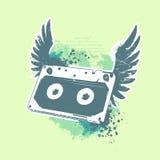 Grunge audio tape Royalty Free Stock Photo