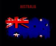 Grunge australian flag Stock Photography