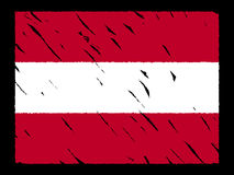 Grunge Austrian flag Royalty Free Stock Images