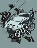 Grunge Automotive Background Stock Photography