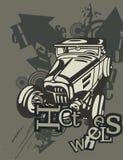 Grunge Automotive Background Stock Image