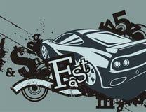 Grunge Automotive Background Stock Photos