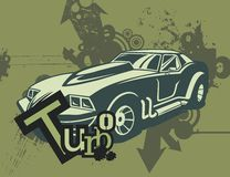 Grunge Automotive Background Royalty Free Stock Photos