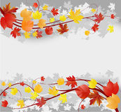Grunge autumn background Stock Photography