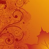 Grunge Autumn Background, Element For Design Stock Photography