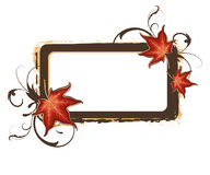 Grunge autumn frame Royalty Free Stock Photos