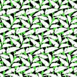 Grunge autumn pattern with fern leafs. Vector seamless pattern with leafs inspired by tropical nature and plants like palm trees and ferns in multiple colors Royalty Free Stock Image