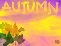 Grunge Autumn Theme Royalty Free Stock Photography