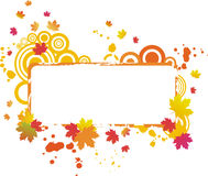 Grunge autumnal frame Royalty Free Stock Photo