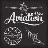 Grunge aviation label Stock Image