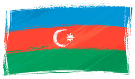 Grunge Azerbaijan flag Stock Photography