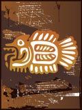 Grunge Aztec Fish Royalty Free Stock Image