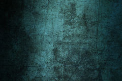 Grunge azul do sumário da textura da parede do fundo arruinado riscado Fotografia de Stock