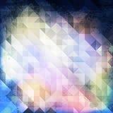 Grunge azul 04 do triângulo ilustração royalty free