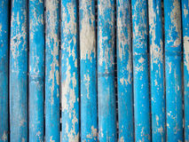 Grunge azul fundo de madeira pintado Imagens de Stock Royalty Free