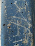 Grunge błękita ściany tekstura obrazy royalty free