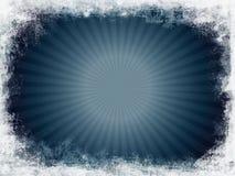 grunge błękitny sunburst Fotografia Royalty Free