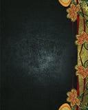 Grunge błękitny tło z wzorami kwiaty Element dla projekta Szablon dla projekta odbitkowa przestrzeń dla reklamy announceme lub br Obrazy Stock