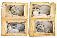 Grunge baby Stock Photos