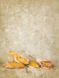 Grunge backdrop with corn cobs Royalty Free Stock Photo