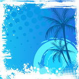 Grunge backgound with palm trees Royalty Free Stock Images