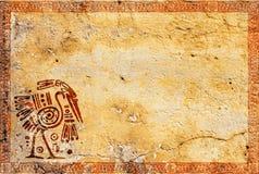 Grunge backgriund με τα αμερικανικά ινδικά παραδοσιακά σχέδια Στοκ Φωτογραφίες