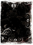 Grunge background. Floral design on a black grunge background Stock Photos