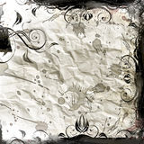 Grunge background. Crumpled paper with stains Stock Images