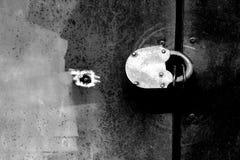 Grunge background. Lock on iron door, grunge background Stock Photography