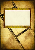 Grunge background. Symbolical the image of a filmstrip Stock Image