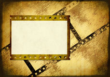 Grunge background. Symbolical the image of a filmstrip Stock Photos