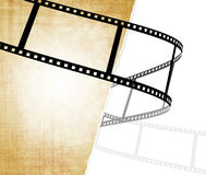 Grunge background. Symbolical the image of a filmstrip Royalty Free Stock Photo