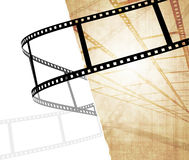 Grunge background. Symbolical the image of a filmstrip Royalty Free Stock Photography