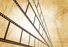 Grunge background. Symbolical the image of a filmstrip Stock Images