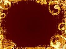 Grunge background. Dark brown grunge background with spiral motif Royalty Free Stock Photo