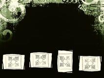 Grunge background. Dark green black grunge background with snowflake motif Royalty Free Stock Photos