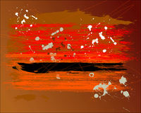 Grunge background. (inkblot on a Royalty Free Illustration