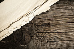 Grunge background. Wood and paper royalty free stock images