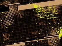 Grunge background. With design elemenets Royalty Free Stock Image
