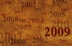 Grunge background - 2009 Royalty Free Stock Photography