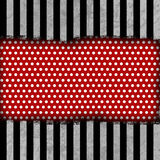Grunge background. With dots, stripes and folds vector illustration