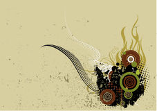 Grunge Background. With swirls and circles Stock Photography