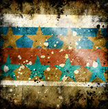 Grunge background. Colorful grunge background with stars Royalty Free Stock Image