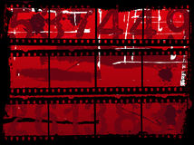Grunge Background. Illustration with Old film strips Stock Images