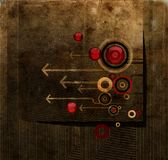 Grunge background. With arrows and circles Stock Photography