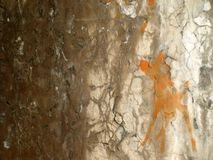 Grunge Background 4. Grunge wall with orange paint Royalty Free Stock Images