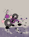Grunge Background. Purple, pink and black abstract grunge background.  Top space left for copy Stock Images