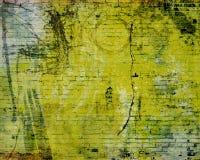 Grunge background. With filigree, cracks, dirt, floral, and brick vector illustration
